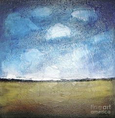 Clouds Over Wheat Fields Print by Vesna Antic