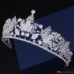 Unique Leaves Pattern Women Jewelry Wedding Crowns 2018 Dazzling Crystal  Rhinestone Beading Bridal Hair Flowers Headpiece Crown Party Gowns Hair  Jewelry ... 35a43c5e8ba5