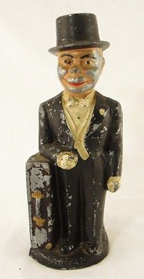 Great White Metal Charlie McCarthy Still Penny Bank, Sold Price: $76.00