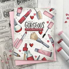 SSS_WakeUpandMakeUp_IG1 Dibujos Zentangle Art, Copic Sketch Markers, Up Book, Diy Cards, Handmade Cards, Card Making Inspiration, Cards For Friends, Simon Says Stamp, Ink Pads