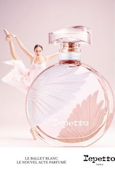 "The new Repetto fragrance Le Ballet Blanc is inspired by Tchaikovsky's ""Swan Lake"". Parfum Rose, Parfum Chanel, Swan Wings, Perfume Adverts, Ballet, Repetto, Cosmetics & Perfume, Best Perfume, Perfume Collection"