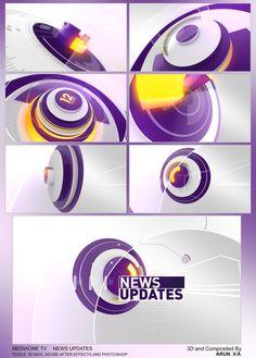 NEWS UPDATES on Behance Digital News, Digital Media, Branding Design, Logo Design, News Design, Logo Tv, Motion Logo, 3d Cinema, Channel Branding