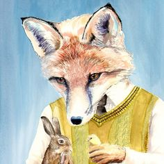 Easter fox print