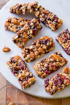 Chocolate Cherry Almond Snack Bars-- copycat KIND bars! sallysbakingaddiction.com