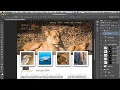 A Photoshop Web Design in 5 Minutes ~ #Webdesign