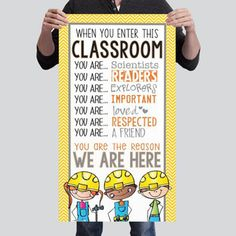 Construction Theme Classroom, Classroom Themes, Goals Planner, Character Education, Banner Printing, Board Ideas, Bulletin Board, Projects To Try, Love You