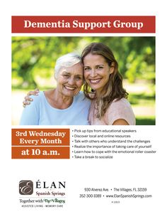 Join us tomorrow for our Dementia Support Group. We will be meeting every 3rd Wednesday at 10:00 AM.