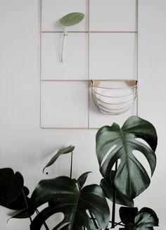 Wallment baskette | wall basket | design wall storage | Sauna dressing room | Finnish design | Monstera in the bathroom