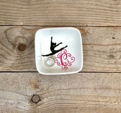 Monogrammed Jewelry Dish, Ring Dish, Personalized Ring Dish, Ballet Dancer, Cheerleader Gift, Dancer Gift, Jewelry Holder, Dance recital by JenniferCraftCorner on Etsy Cheerleading Gifts, Cheerleader Gift, Softball Gifts, Basketball Gifts, Personalized Rings, Personalized Wedding Gifts, Unique Gifts For Her, Gifts For Mom, Tween Gifts