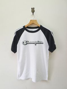 Vintage Champion Cropped T Shirt Retro Old School Upcycled Champion Crop Top Sporty OOAK XS-Small