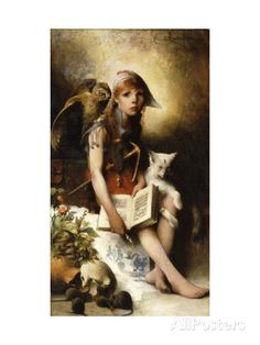 The Witch's Daughter Giclee Print by Carl Larsson at AllPosters.com