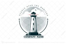 Logo for sale: Lighthouse Logo by Mubbe, uploaded on elegant logo with a beacon image, suitable for most companies, for example for a company engaged in business support Travel Logo, Travel And Tourism, Creative Play, Creative Logo, Typography Design, Logo Design, Graphic Design, Everton Badge, Elegant Logo