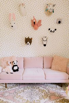 Obsessed with this pink sofa from @article!