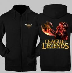 League of Legends Lord Darius skin hooded sweatshirt for men plus size hoody
