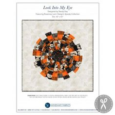 Look Into My Eye Dresden wallhaging - baby quilt