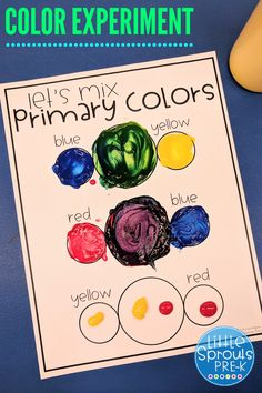 Preschool Lesson Plans, Preschool Science, Science Experiments Kids, Preschool Activities, Mixing Primary Colors, Mixing Paint Colors, Color Mixing, Mouse Paint Activities, Color Activities