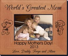 Personalized Mothers Day Frames - Always FREE laser engraving. Create the ultimate Mother's Day gift this year! - Starting at only $25.95