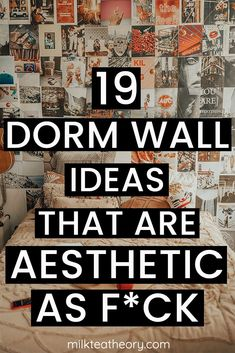This post is about 19 aesthetic dorm room wall decor ideas to fulfill all your dorm room decor needs. Perfect for any college student trying to make a statement with the start of the new school year in 2020. | dorm room ideas | dorm wall decor ideas Best College Dorms, College Walls, College Dorm Rooms, College Fun, College Students, Dorm Room Doors, Dorm Room Walls, Room Wall Decor, Dorm Room Checklist