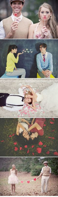 Her dress in the 3rd photo: I want it. But this whole thing is so creative.