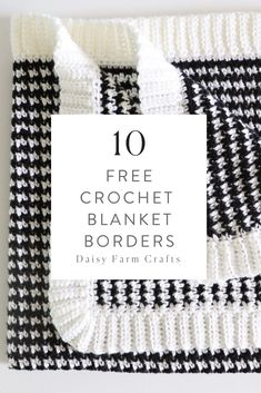 Create a beautiful and finished look on your afghans, blankets or throw pillows with these 10 free crochet border patterns! Crochet Squares, Crochet Border Patterns, Crochet Boarders, Crochet Stitches, Crochet Edgings, Granny Squares, Crochet Borders For Blankets, Crochet Blanket Border, Crochet Blankets