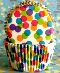 Wonderland dots Cupcake Liners cases Baking Cups by GORGEOUSCUPS, $2.99.  These were a great touch at J's party!