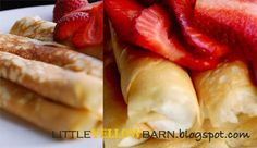 Little Yellow Barn: darn good crepe  ⭐️Cream filling: sour cream, cream cheese, powdered sugar = Fruit Dip!