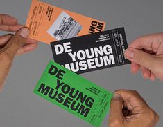 De Young Museum visual identity (fictional) - Fonts In Use Museum Logo, Museum Identity, Museum Branding, Game Design, Ticket Design, Layout Design, Identity Design, Visual Identity, Logo Design