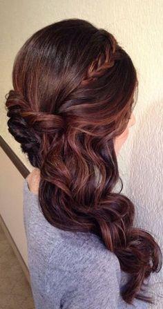 Best Ideas For Wedding Hairstyles : Featured Hairstyle: Heidi Marie (Garrett); Unique Wedding Hairstyles, Bride Hairstyles, Down Hairstyles, Pretty Hairstyles, Easy Hairstyles, Hairstyle Wedding, Medium Hairstyles, Hairstyle Ideas, Elegant Wedding Hair