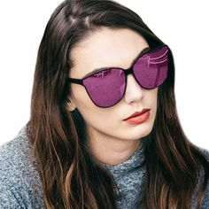 74168f573fd DUCO Shades Classic Oversized Polarized Sunglasses for Women 100% UV  Protection 6214 Wine Red Frame Gray Lens  fashion  s…