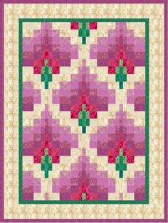 Kameleon tekstildesign with Kameleon Quilts patterns for sale, Norwegian quilt patterns.  This page has some lovely bargello quilts