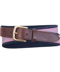 55602904dc9 Canvas Belts for Men  Vineyard Whale Canvas Club Belt