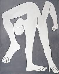 Picasso is known for being the initiator of biomorphism, which is pioneered by fellow Spaniard Joan Miro. Exemplified fully in this painting, Picasso shows Pablo Picasso, Kunst Picasso, Art Picasso, Picasso Paintings, Tachisme, Georges Braque, A Level Art, Illustration, Art Moderne