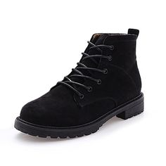 CYBLING Winter Combat Ankle Boots For women Fashion Lace Up Round Toe Casual Short Booties -- Don't get left behind, see this great boots : Snow boots Snow Boots, Hiking Boots, Casual Shorts, Ankle Boots, Lace Up, Toe, Booty, Winter, Womens Fashion