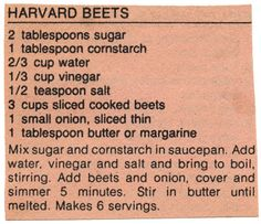 Vegetable - Harvard Beets BX0012 | Flickr - Photo Sharing!