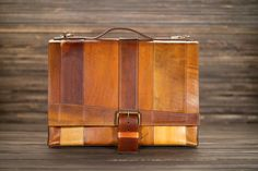 """""""strappy"""" custom leather messenger bag by fullgive"""