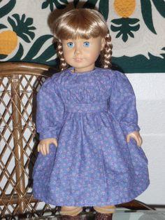 1800s Little House Pioneer Prairie Dress by alohagirldollclothes, $28.00