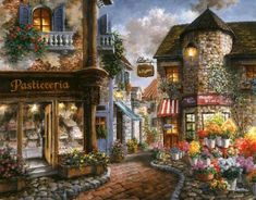 Bello Piazza by Nicky Boehme ~ charming Italian village