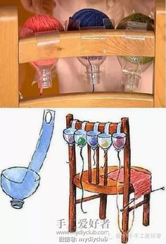 chair back yarn holders