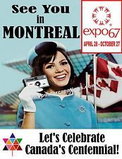 """Event poster for Expo the world's fair held in Montreal, Quebec back in The fair was part of Canada's year-long celebration of its centennial. """"See You in Montreal! Expo 67 Montreal, Quebec Montreal, Montreal Ville, Quebec City, Vintage Advertisements, Vintage Ads, Vintage Cameras, Vintage Stuff, O Canada"""