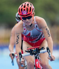 Canada's Paula Findlay competes in the women's triathlon at the 2012 London Olympic Games August 4, 2012.  COC Photo: Jason Ransom