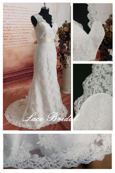 WeddingGown Vintage Lace Wedding Dress Bridal Gown by LaceBridal, $299.00