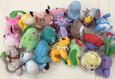 Lot of 21 Bandai Pokemon friends Mini Plush Azumarill Vileplume Entei Smeargle #Bandai