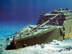 A ghostly vision emerged from the back can see the bow section of the famous ship full of icicles on oxide and overall, if anything worse than I imagined many stakeholders in the field, waiting for a boat almost full and good condition at the bottom.