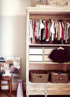 Baby girls nursery closet