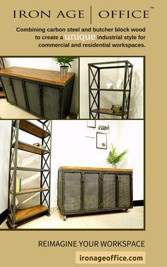 Saxon Storage Office Furniture Modern Commercial Rustic Desk Indu Our Prod