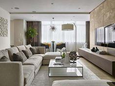 Trang trí phòng khách cổ điển đẹp bằng rèm vải