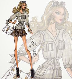 Hayden Williams Fashion Illustrations: Wildlife Safari by Hayden Williams: Look 1