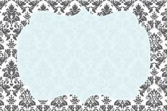 Cinza Branco e Azul - Mini Kit Completo com molduras para convites, rótulos para…