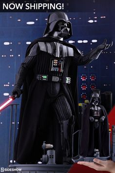 The Hot Toys Darth Vader deluxe figure is now available at Sideshow! Darth Vader Armor, Vader Helmet, Star Wars Darth, Star Wars Figurines, Star Wars Toys, Star Wars Painting, Star Wars Wallpaper, The Empire Strikes Back, Star Wars Poster