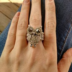 SALE! Stretch Owl Ring Bundle Me! Stretch ring. F21 Forever 21 Jewelry Rings